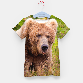 Thumbnail image of Brown Bear Kid's t-shirt, Live Heroes
