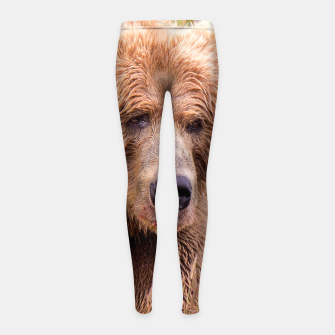 Thumbnail image of Brown Bear Girl's leggings, Live Heroes