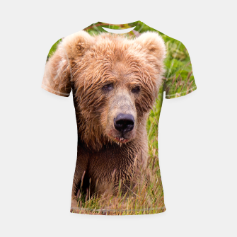 Thumbnail image of Brown Bear Shortsleeve rashguard, Live Heroes