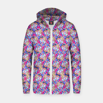 Miniatur Source Of Freedom Pattern Zip up hoodie, Live Heroes