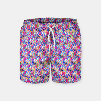 Source Of Freedom Pattern Swim Shorts obraz miniatury