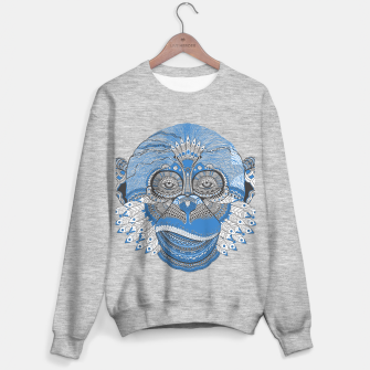 Thumbnail image of  Monkey blue head Sudadera regular, Live Heroes