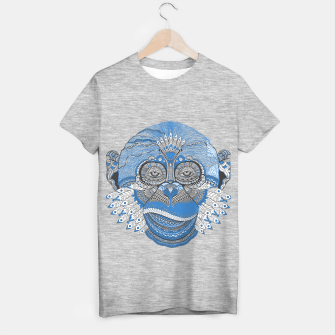 Thumbnail image of  Monkey blue head Camiseta Regular, Live Heroes