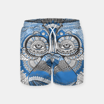 Thumbnail image of  Monkey blue head Pantalones de baño, Live Heroes