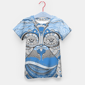 Thumbnail image of  Monkey blue head Camiseta para niños, Live Heroes