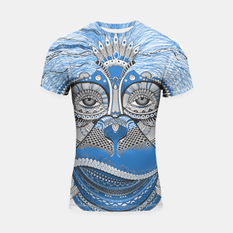 Thumbnail image of  Monkey blue head Shortsleeve rashguard, Live Heroes