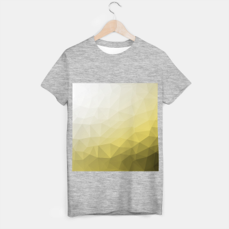 Thumbnail image of Elegant and cool Triangle geometric mesh with Ultimate Gray Illuminating Gradient Geometric Mesh Patternllow gradient.  T-shirt regular, Live Heroes