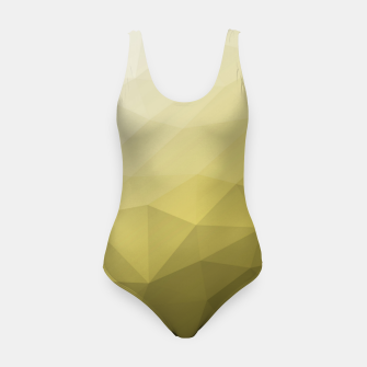 Ultimate Gray Illuminating Gradient Geometric Mesh Pattern Swimsuit thumbnail image