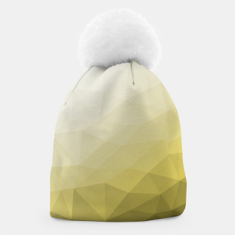 Thumbnail image of Elegant and cool Triangle geometric mesh with Ultimate Gray Illuminating Gradient Geometric Mesh Patternllow gradient.  Beanie, Live Heroes