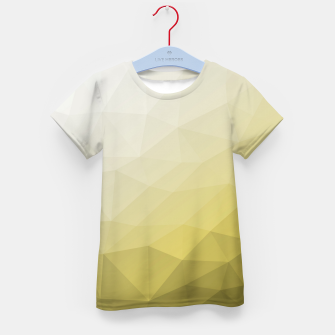 Thumbnail image of Elegant and cool Triangle geometric mesh with Ultimate Gray Illuminating Gradient Geometric Mesh Patternllow gradient.  Kid's t-shirt, Live Heroes