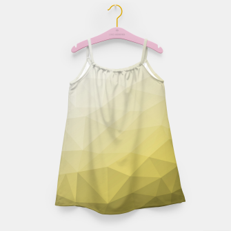 Ultimate Gray Illuminating Gradient Geometric Mesh Pattern Girl's dress thumbnail image