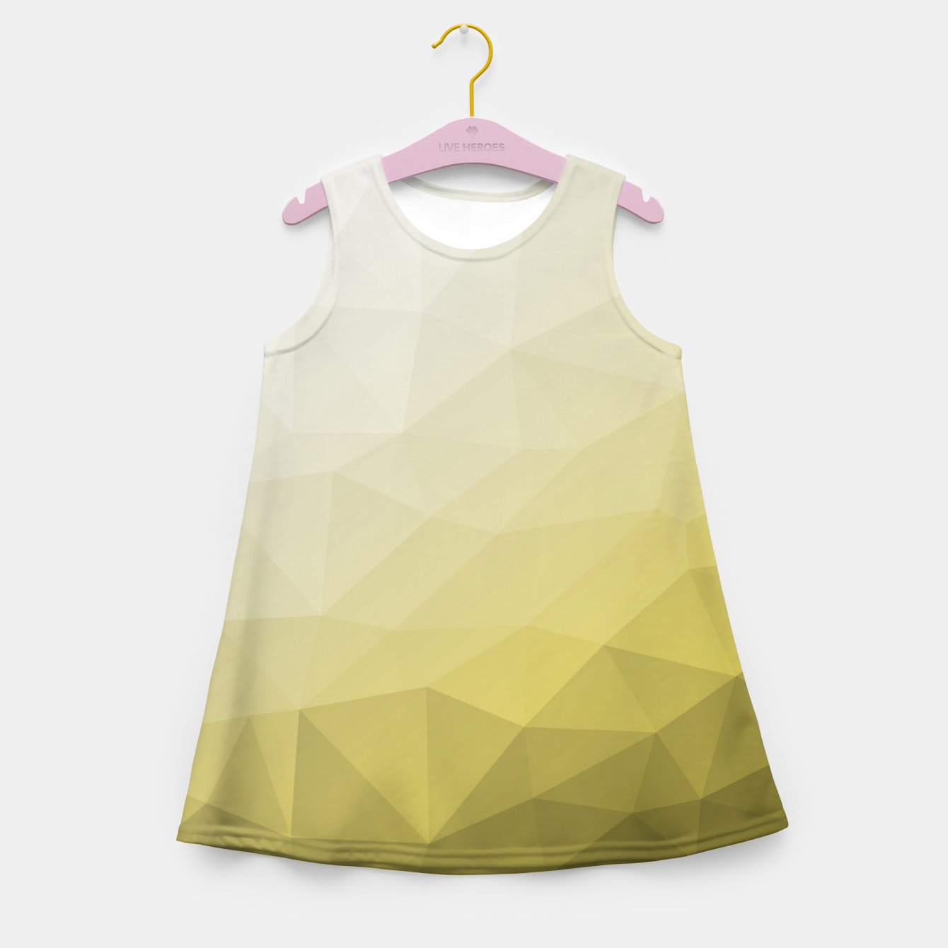 Image of Ultimate Gray Illuminating Gradient Geometric Mesh Pattern Girl's summer dress - Live Heroes