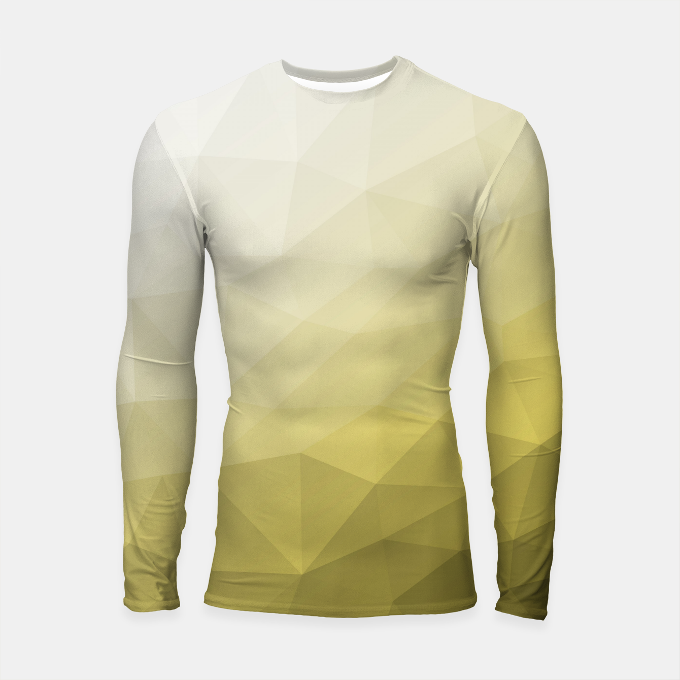 Image of Ultimate Gray Illuminating Gradient Geometric Mesh Pattern Longsleeve rashguard  - Live Heroes