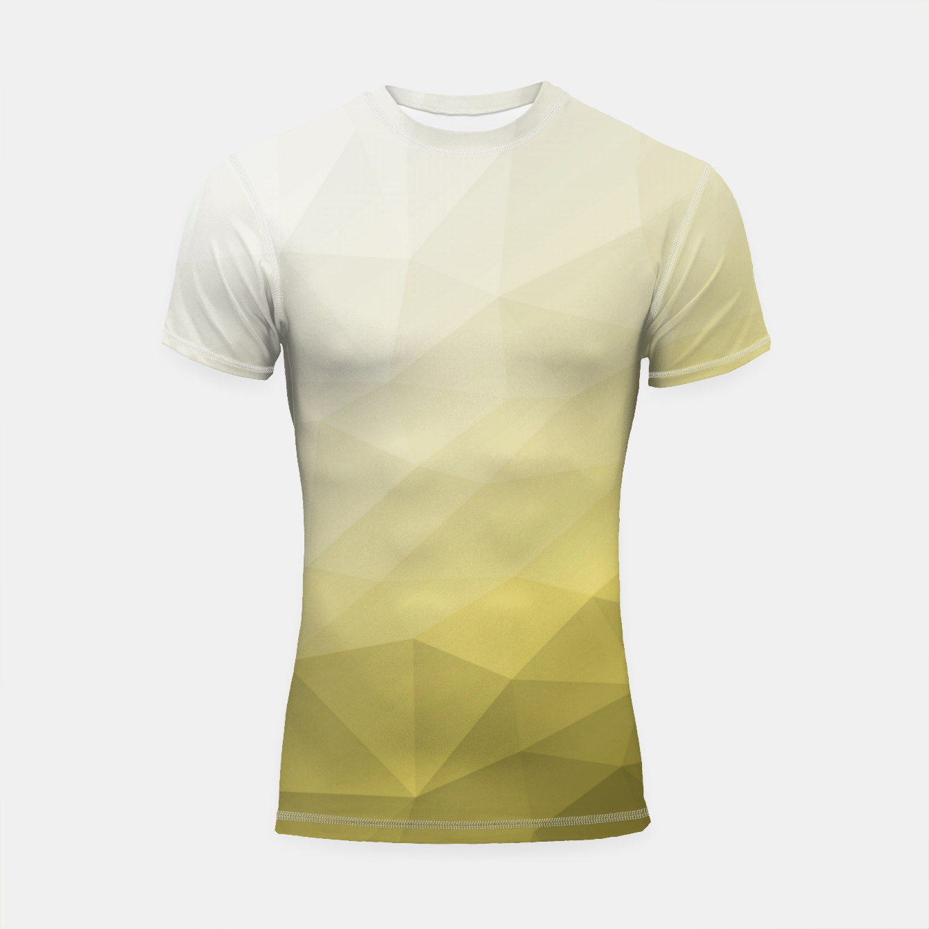 Image of Ultimate Gray Illuminating Gradient Geometric Mesh Pattern Shortsleeve rashguard - Live Heroes