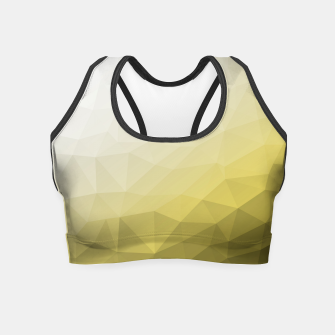 Thumbnail image of Elegant and cool Triangle geometric mesh with Ultimate Gray Illuminating Gradient Geometric Mesh Patternllow gradient.  Crop Top, Live Heroes