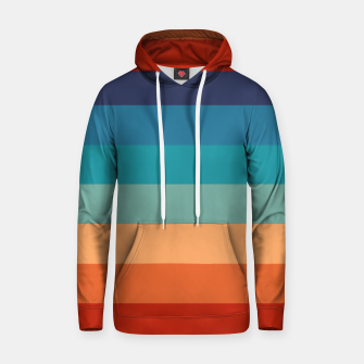 Thumbnail image of Rainbow Stripes Vintage Colors Old Style Colorful Geometric Hoodie, Live Heroes