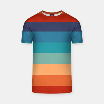 Thumbnail image of Rainbow Stripes Vintage Colors Old Style Colorful Geometric T-shirt, Live Heroes