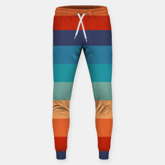 Thumbnail image of Rainbow Stripes Vintage Colors Old Style Colorful Geometric Sweatpants, Live Heroes