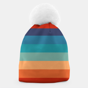 Thumbnail image of Rainbow Stripes Vintage Colors Old Style Colorful Geometric Beanie, Live Heroes