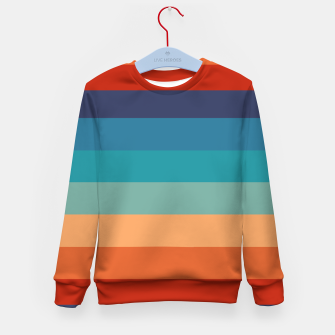 Thumbnail image of Rainbow Stripes Vintage Colors Old Style Colorful Geometric Kid's sweater, Live Heroes
