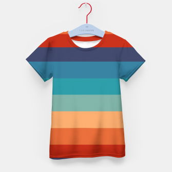 Thumbnail image of Rainbow Stripes Vintage Colors Old Style Colorful Geometric Kid's t-shirt, Live Heroes