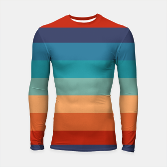 Thumbnail image of Rainbow Stripes Vintage Colors Old Style Colorful Geometric Longsleeve rashguard , Live Heroes