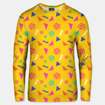Miniatur Geometric Shapes Retro Colors Party Vibes Colorful Confetti Unisex sweater, Live Heroes
