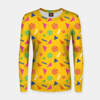 Miniatur Geometric Shapes Retro Colors Party Vibes Colorful Confetti Women sweater, Live Heroes