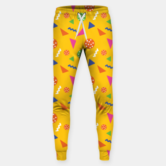 Thumbnail image of Geometric Shapes Retro Colors Party Vibes Colorful Confetti Sweatpants, Live Heroes
