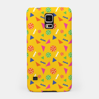 Miniatur Geometric Shapes Retro Colors Party Vibes Colorful Confetti Samsung Case, Live Heroes