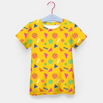 Miniatur Geometric Shapes Retro Colors Party Vibes Colorful Confetti Kid's t-shirt, Live Heroes
