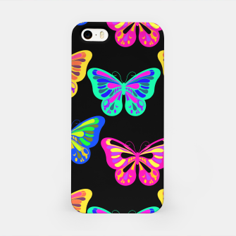 Miniaturka Colorful Butterflies Lepidopterous Vaporwave Vibrant Colors iPhone Case, Live Heroes