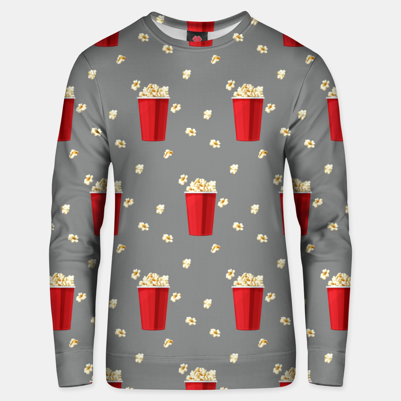 Image of Red Popcorn Buckets Movie Snack Television Film Lovers Unisex sweater - Live Heroes