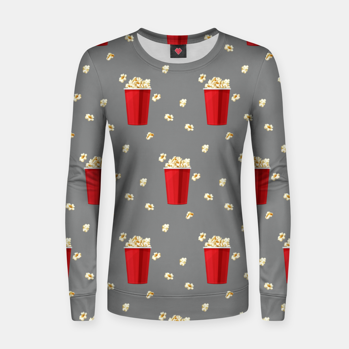 Image of Red Popcorn Buckets Movie Snack Television Film Lovers Women sweater - Live Heroes