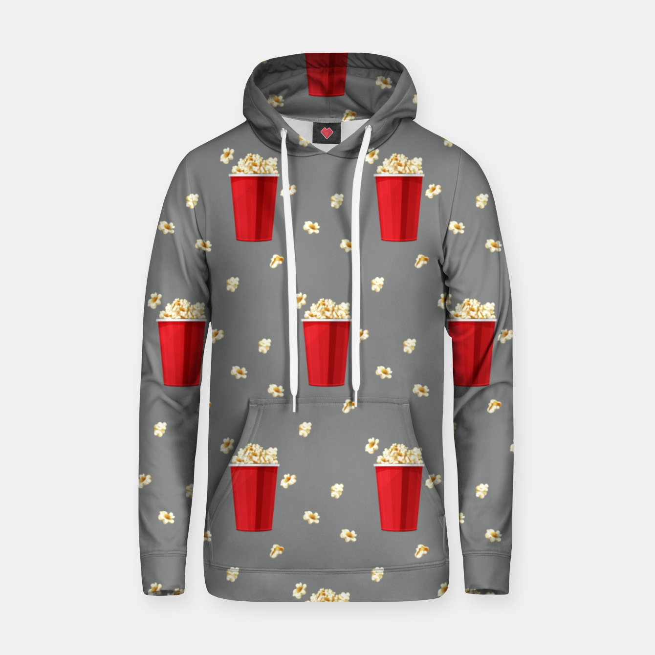 Image of Red Popcorn Buckets Movie Snack Television Film Lovers Hoodie - Live Heroes
