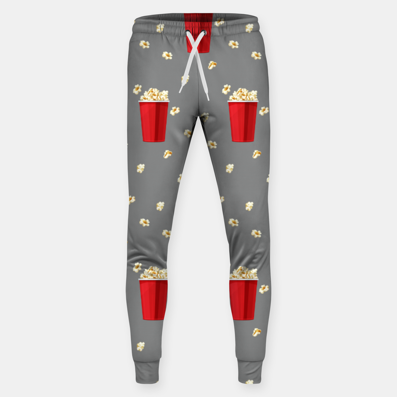 Image of Red Popcorn Buckets Movie Snack Television Film Lovers Sweatpants - Live Heroes