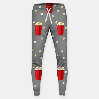 Red Popcorn Buckets Movie Snack Television Film Lovers Sweatpants thumbnail image