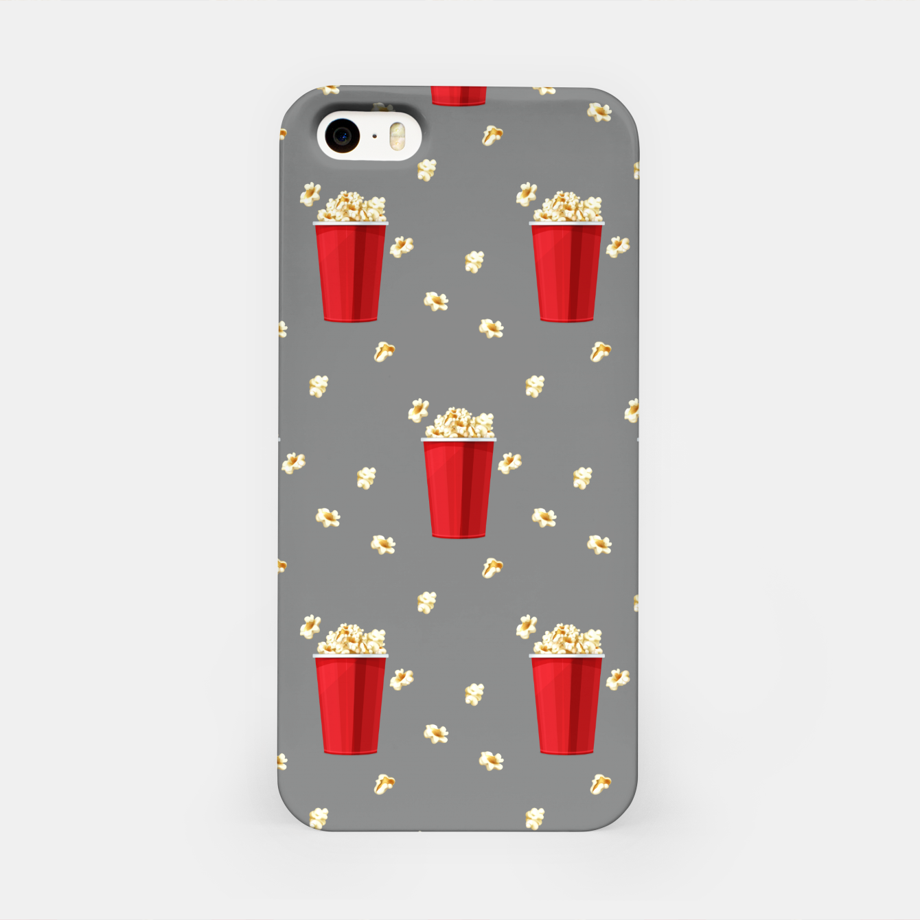 Image of Red Popcorn Buckets Movie Snack Television Film Lovers iPhone Case - Live Heroes