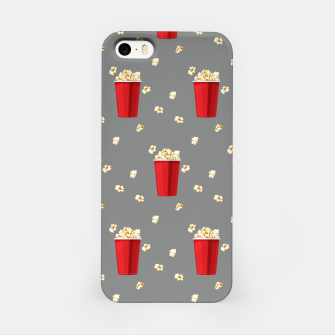 Red Popcorn Buckets Movie Snack Television Film Lovers iPhone Case thumbnail image