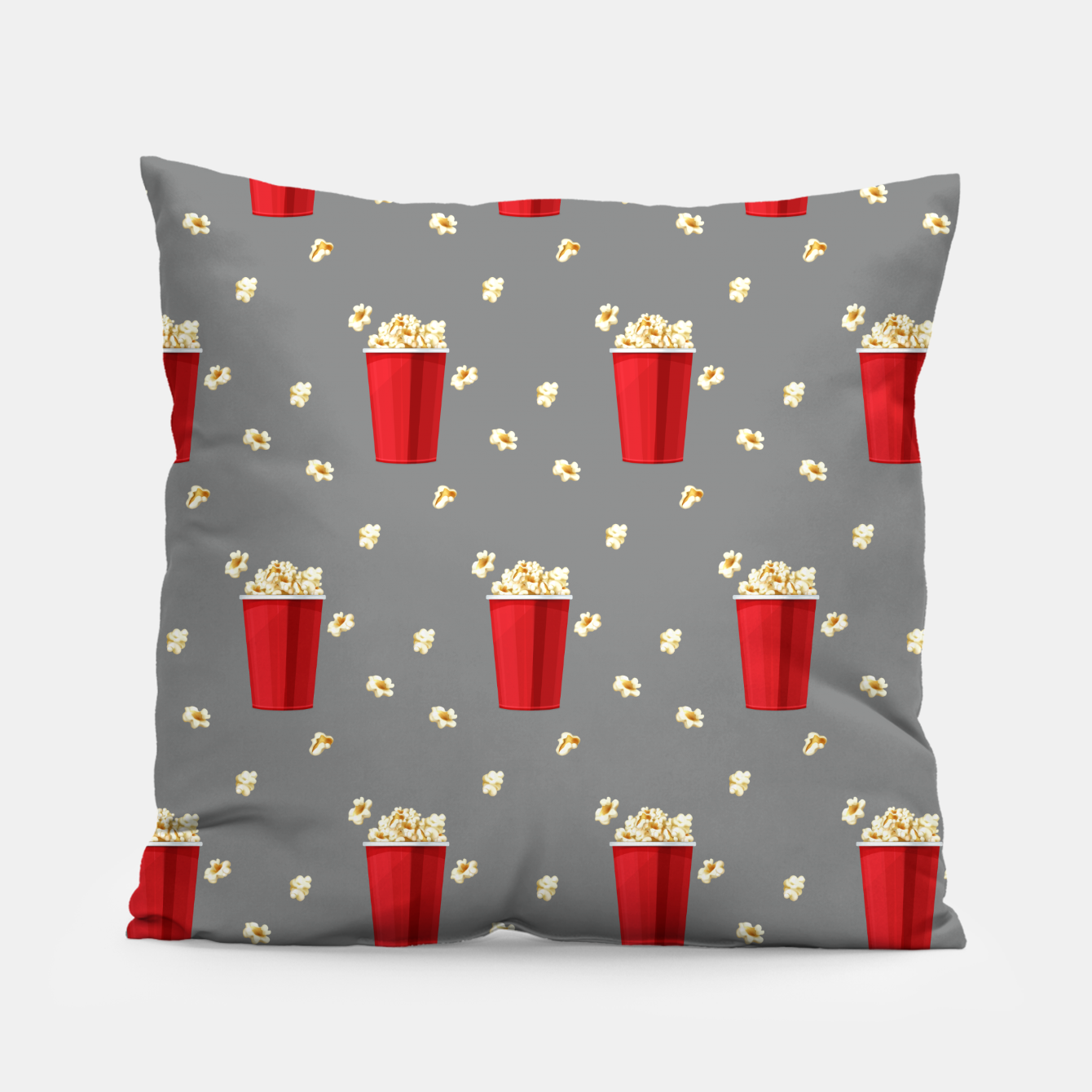 Image of Red Popcorn Buckets Movie Snack Television Film Lovers Pillow - Live Heroes