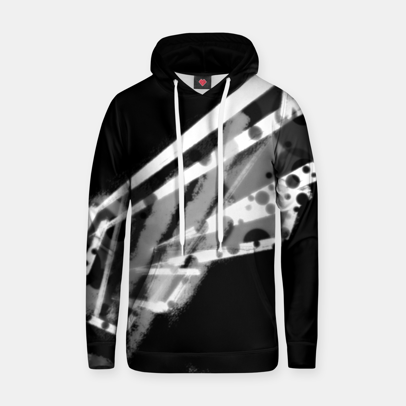 Image of sacred wings uncloloured (white edition) Kapuzenpullover - Live Heroes