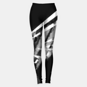 sacred wings uncloloured (white edition) Leggings thumbnail image