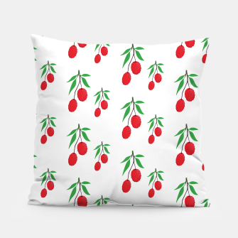 Imagen en miniatura de Lychee Tree Green Leaf Exotic Tropical Fruit Lover Pillow, Live Heroes