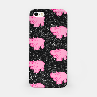 Miniaturka Pink Hippos Cute Hippopotamus Smiling Face Big Animals iPhone Case, Live Heroes