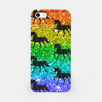Miniaturka Unicorn Silhoutte Rainbow Colors Glitter LGBTQ Pride iPhone Case, Live Heroes