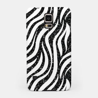 Thumbnail image of Zebra Stripes Black Glitter Wild Animals Print Chic Glam Samsung Case, Live Heroes