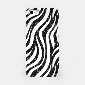Miniaturka Zebra Stripes Black Glitter Wild Animals Print Chic Glam iPhone Case, Live Heroes