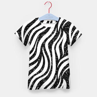 Miniaturka Zebra Stripes Black Glitter Wild Animals Print Chic Glam Kid's t-shirt, Live Heroes
