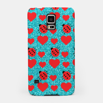 Miniaturka Ladybugs Lucky Insect Red Hearts Black Polka Dots Botanical Samsung Case, Live Heroes