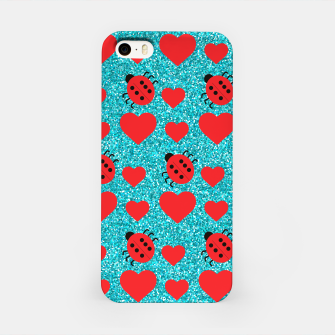 Miniaturka Ladybugs Lucky Insect Red Hearts Black Polka Dots Botanical iPhone Case, Live Heroes